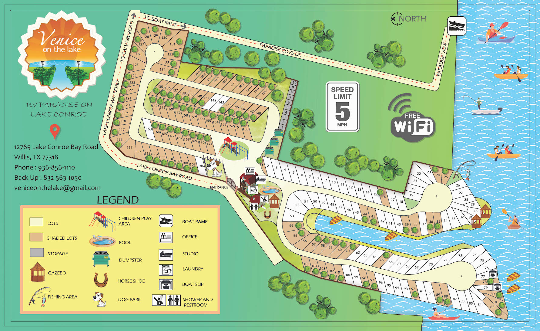 Best RV Park on Lake Conroe, Venice On the Lake